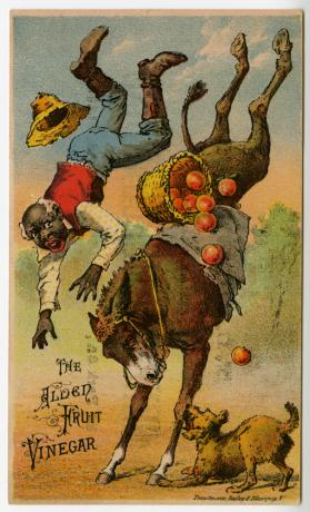The Alden Fruit Vinegar: horse bucking