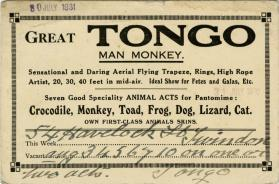 Great Tongo Man Monkey