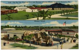 The Big Top, Ringling Bros.and Barnum & Bailey Winter Quarters, Sarasota, Fla.  and Monkey Island