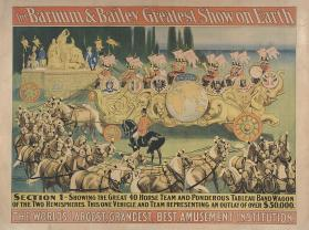 Barnum & Bailey: Section 1 Showing the Great 40 Horse Team
