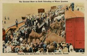 The Greatest Show on Earth Unloading at Winter Quarters