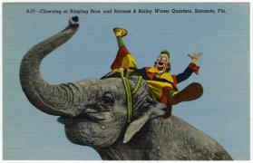 Clowning at Ringling Bros. and Barnum & Bailey Winter Quarters, Sarasota, Fla.