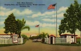 Main Entrance, Ringling Bros. and Barnum & Bailey, Winter Quarters, Sarasota, Fla.