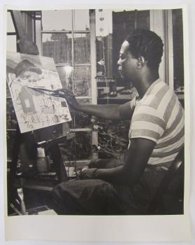 African American Artist Painting