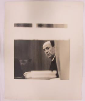 Adlai Stevenson Seen Through White House Window