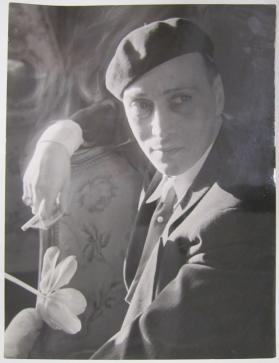 Actor Gosta Ekman in his Home in Stockholm, May 1934