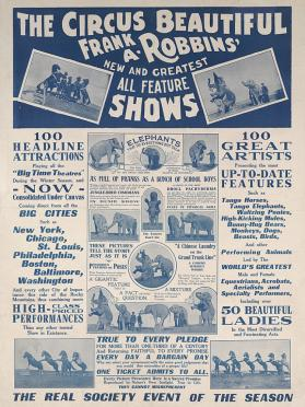 Frank A. Robbins: The Circus Beautiful