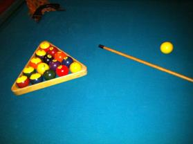 16 Billiard Balls and rack