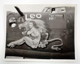 "Bomber nose art from the 834th ""Zodiac"" Squadron, 486th Bombardment Group, 1944"