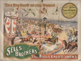 Sells Bros. Big Show Of The World: Exact Interior Scene of the 3 Ring Circus