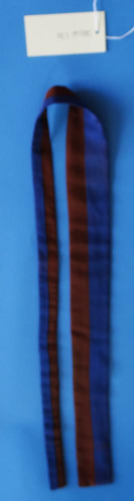 Brown and Blue Vertically Striped Tie