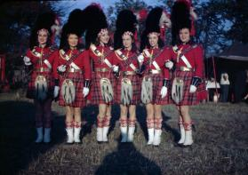 6 Girls in Scotch Garb