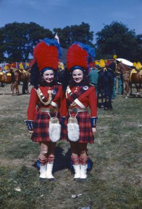 Charlotte Bell and Yvonne Carewe in Guard Garb