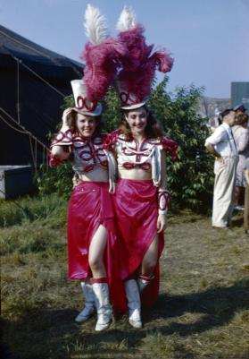 2 Ladies in Red Costume