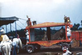 Lion Cage Entering Big Top