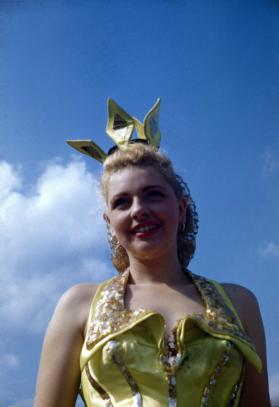Barbara Petry in Yellow Costume