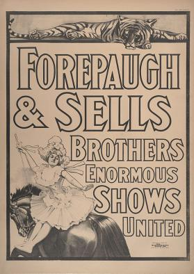 Forepaugh-Sells Enormous Shows United: Black and White Printer's Proof