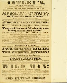 Astley's Royal Amphitheatre. May 9, 1833