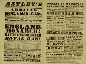 Double Page Playbill for Astley's Royal Amphitheatre of Arts. July 28, 1843