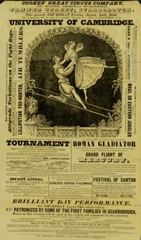 Playbill for Cooke's Great Circus Company. August 24, 1843