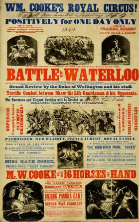 Playbill for Wm Cooke's Royal Circus. September 4, 1849