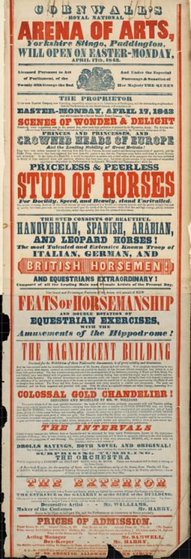 Cornwall's Royal Circus. April 17, 1843