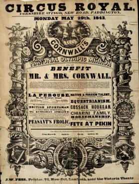 Cornwall's Circus Royal. May 29, 1843