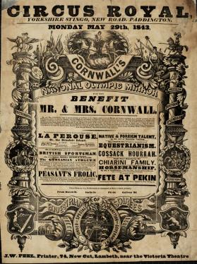 Cornwall's Royal Circus. May 29, 1843