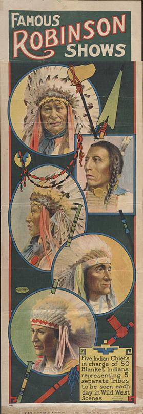 Famous Robinson Shows: 5 Indian Chiefs